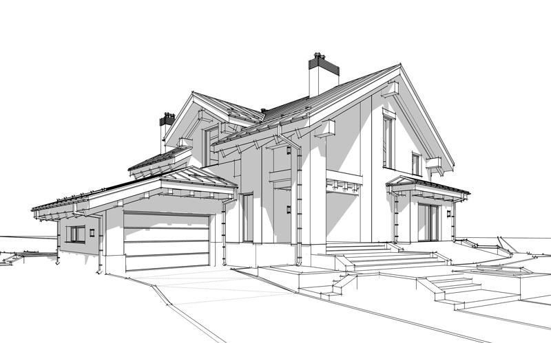 Zeichnung Haus